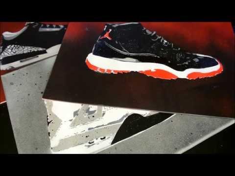 Canvas Spray Paint Sneaker Art by Kevin Garcia