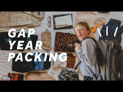 PACK WITH ME for my GAP YEAR ☐✈️ + free packing list download