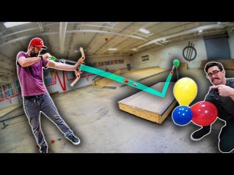 INSANE BALLOON POPPING TRICK SHOTS! | Zing Bow