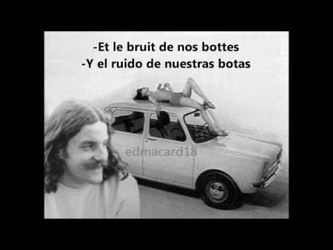 LOS ATAJOS. LES CHEMINS DE TRAVERSE. FRANCIS CABREL FRANCES ESPAÑOL LETRAS PAROLES