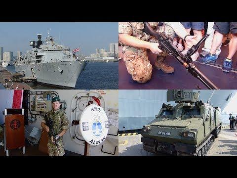 英国海軍ドック型揚陸艦アルビオン 一般公開 HMS Albion open to the public in Tokyo