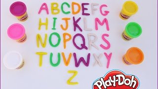 Alfabeto com Massinha Plastilina Play Doh -  Alphabet Play Doh