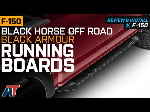 2015-2018 F150 Black Horse Off Road Black Armour Running Boards Review & Install