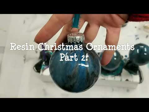 Resin Christmas Ornaments with Stone Coat Countertops Quick Coat