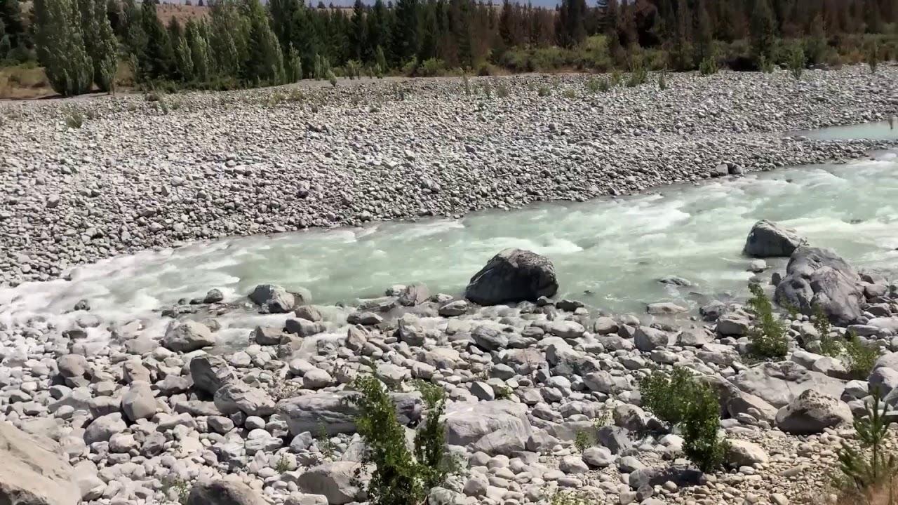 Pūkaki dam spill demonstrates power - sweeps down riverbed