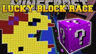 Minecraft: EPIC PACMAN LUCKY BLOCK RACE - Lucky Block Mod - Modded Mini-Game