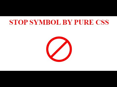 Stop Symbol by pure CSS   ninjacode.in   CSS thumbnail