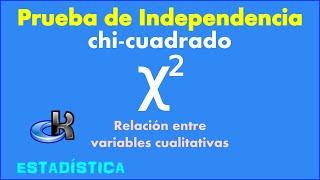 Prueba de independencia estadística Chi Cuadrado - Relación entre variables cualitativas