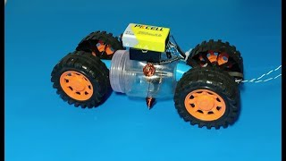 Making toy car using my own Brushless screw motor