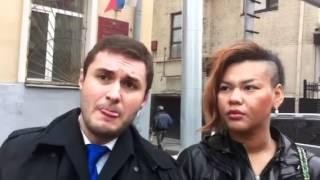 Корнелия Манго и Александр Зорин в суде