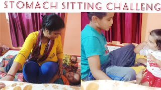 Stomach Sitting Challenge😢Me And Dux | Funny Challenge | Requested Video | Himachali Vlogger Minaksh