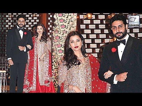 Aishwarya Rai's ROYAL RED Appearance With Abhishek Bachchan At Ambani's Party | LehrenTV