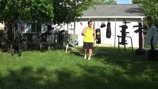 53 year old man martial arts fitness with Jaguar50 -TKD kicks, Punches & Sweep Kicks corrtrader.com
