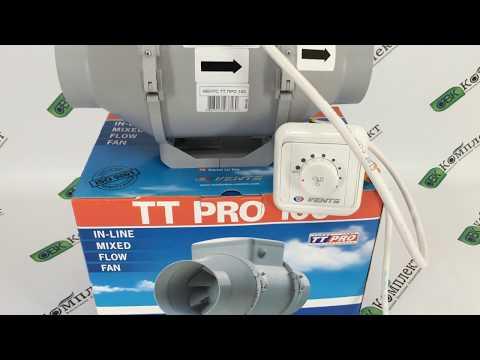 Подключение Вентс ТТ ПРО 100 через регулятор скорости РС-1-300