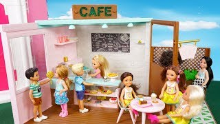 Barbie Chelsea Opens up her Own Cafe -  Titi Toys  Barbie Family Videos