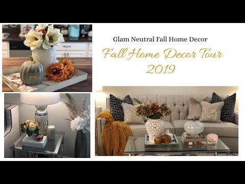 Fall Decorating Ideas| Home Tour 2019|Neutral Fall Decor| Glam Home Decor