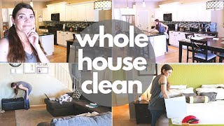 WHOLE HOUSE SPEED CLEANING ROUTINE // CLEANING MOTIVATION