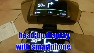 Head up display for smartphone (HUD) unboxing, http://amzn.to/29zsmxb
