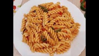 দশ সবদ মসল পসত  Spicy Masala Pasta  Bangladeshi Style Pasta Recipe
