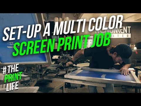 Set up and Register a Multi-Color Silk Screen Printing Job on Press || How To