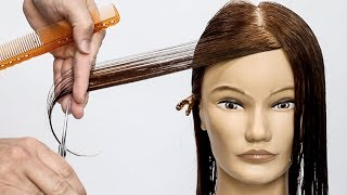 How to cut perfect face framing layers for long hair