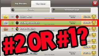 #1 'REAL' CLAN in the WORLD? Clash of Clans Builder Hall Trophy PUSH!