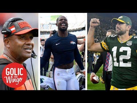 Week 1 NFL breakdown: Steelers-Browns, Broncos-Seahawks, Packers-Bears | Golic & Wingo | ESPN