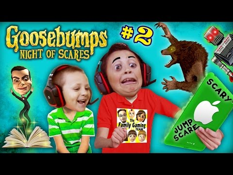 Thumbnail: WEREWOLF KNOCKED OFF MIKE's HEAD ~🎃#@AHHH!@#%👻! GOOSEBUMPS NIGHT OF JUMP SCARES #2 (w/ FGTEEV Chase)