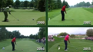 The evolution of Tiger Woods' swing