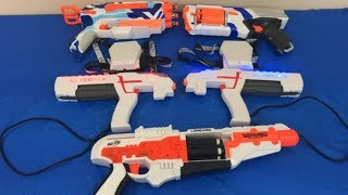 Box of Toys Toy Guns Laser Tag NERF Guns