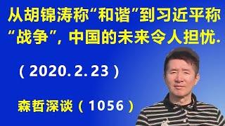 """从胡锦涛称""""全民和谐"""",到习近平称""""人民战争"""",中国的未来令人担忧. (2020.2.23)"""