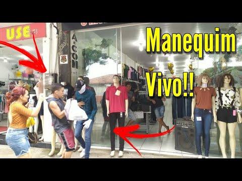 PEGADINHA DO MANEQUIM VIVO - APANHEI? ( PARTE 3 )