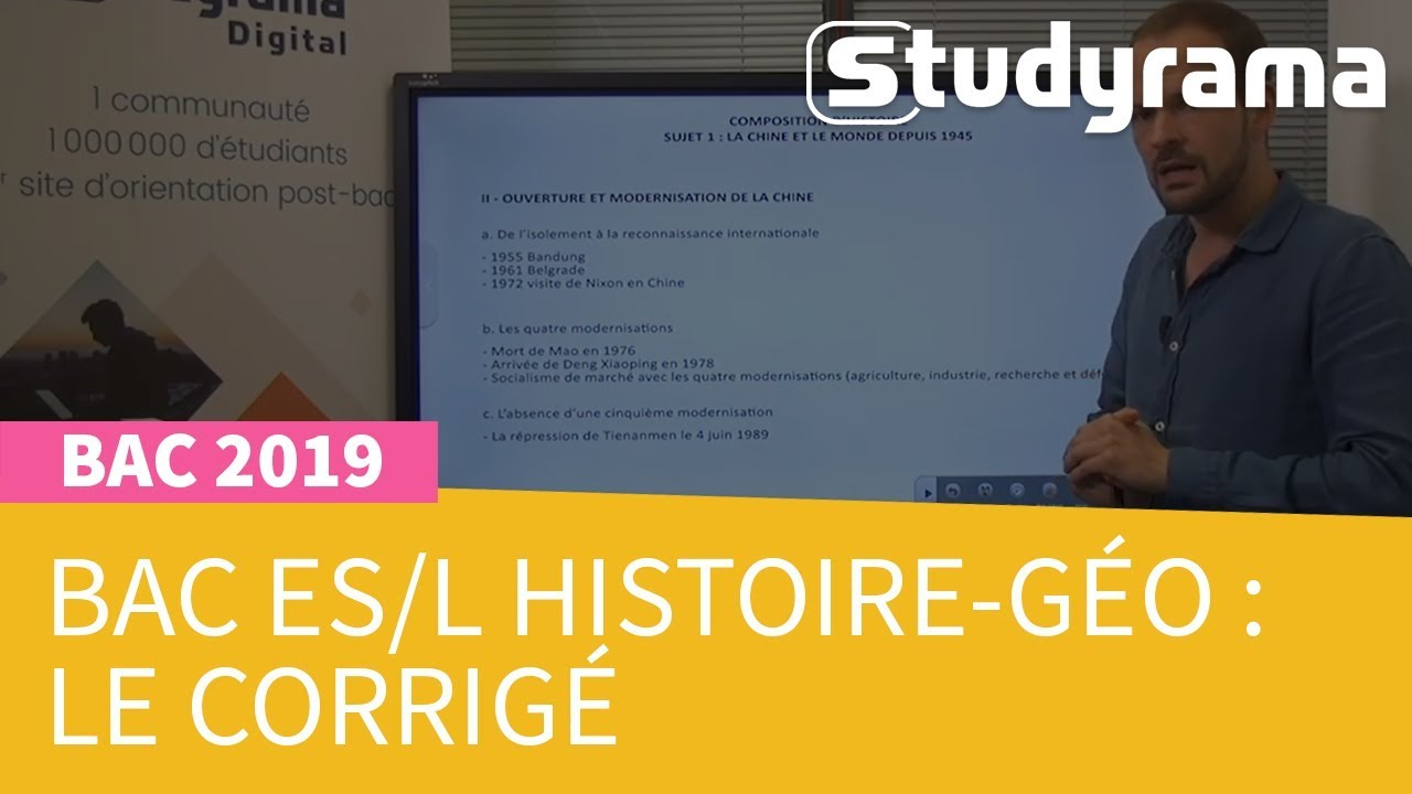 Bac 2019 Série Es Sujet Et Corrigé Histoire Géographie