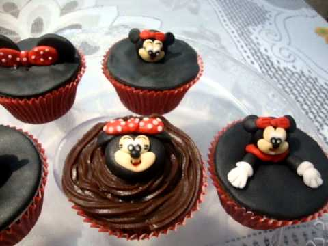 Cupcakes decorados com a Minie - YouTube
