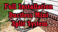 Carrier Mini Split Ductless Heat Pump; Easy Installation Step By Step w/ Full....