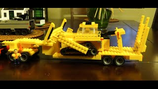 LEGO Custom Truck Trailer MOC, Heavy Lift, Working Rear Ramp, Heavy Equipment Hauler