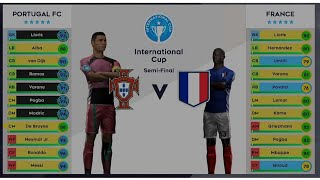 Portugal VS France  International Cup Semifinal  DLS 21 Android Gameplay Walkthrough