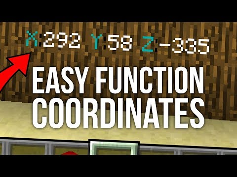 Coordinates Without F3 in Minecraft 1 13 - MinecraftVideos TV