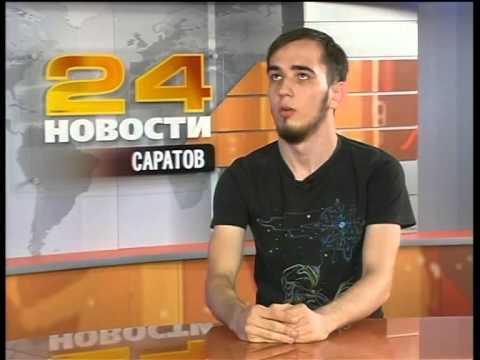 Настоящий диггер Егор Сухинин в студии РЕН ТВ-Саратов