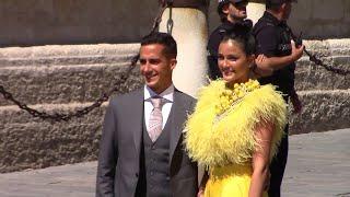 El amarillo y negro triunfan en la boda de Sergio Ramos y Pilar Rubio