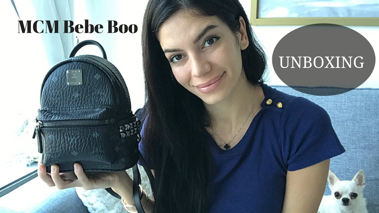 Unboxing  MCM X Mini STARK Back Pack Bebe Boo - YouTube ef7463c3dd02d