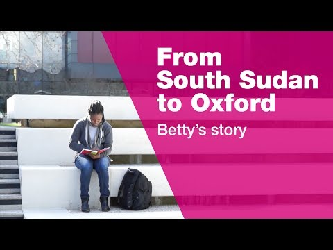 From South Sudan to Oxford - Betty's story | Oxford Brookes University