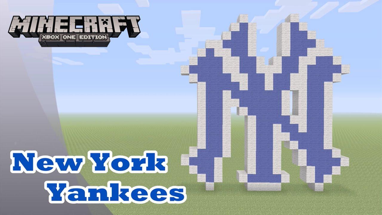 Minecraft Pixel Art Tutorial And Showcase New York Yankees Mlb