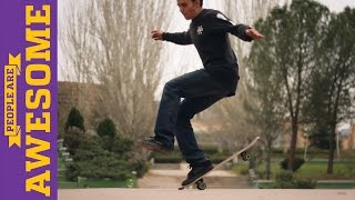 People are Awesome: Kilian Martin (Freestyle Skateboarding) - Part 2
