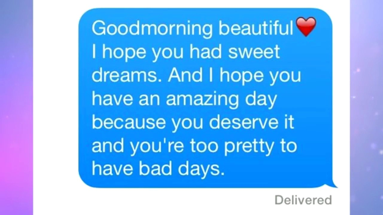 A sweet good morning text