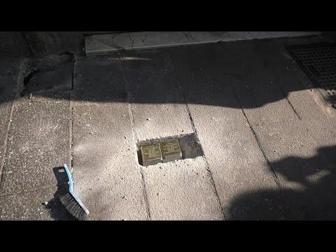 """Stumbling blocks"" dot Roman sidewalks to remember those killed during Nazi occupation"