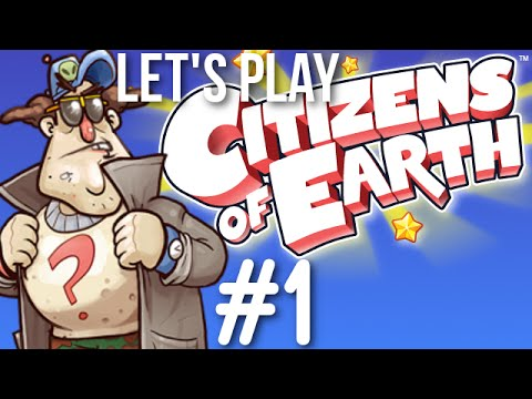 Busting out the Conspiracy Guy - Let's Play Citizens Of Earth Gameplay Part 1