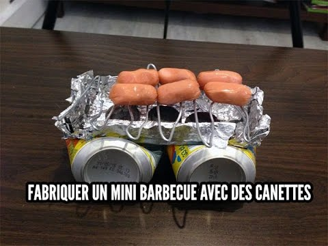 le tuto de la semaine fabriquer un mini barbecue avec des canettes youtube. Black Bedroom Furniture Sets. Home Design Ideas