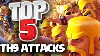 TOP 5 Best TH9 3 STAR Attacks 2017 Part 1 | Clash of Clans