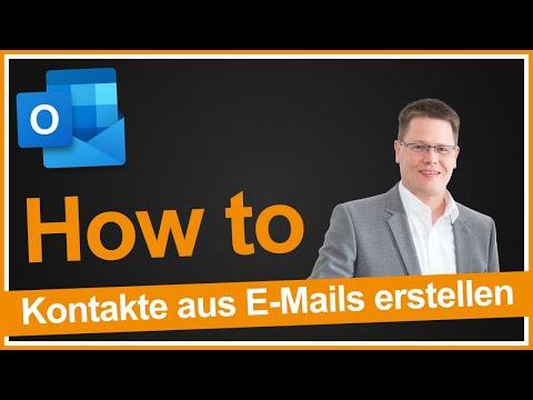 Kontakte aus E-Mails erstellen in Outlook